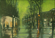 Dusk Pastels Prints - City Rain 6 Print by Paul Mitchell
