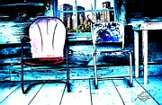 Cabin Window Digital Art Prints - City Retreat Print by Lauranns Etab