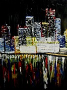 City Scape Paintings - City Scape by Deborah Duffy