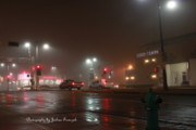 Downtown Appleton Photo Prints - City scapes fog  Print by Joshua Fronczak