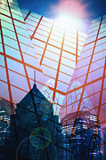 Business Digital Art Metal Prints - City Metal Print by Setsiri Silapasuwanchai