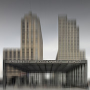 Contour Prints - City-Shapes BERLIN Potsdamer Platz Print by Melanie Viola
