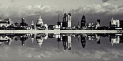 London Skyline Digital Art Prints - City Print by Sharon Lisa Clarke
