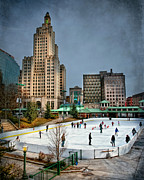 Ice Skating Photos - City Skaters by Robin-Lee Vieira