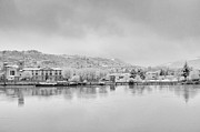 Standing Water Prints - City Under Snow Print by Xamah Image