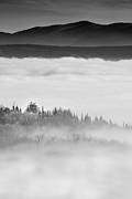 City Under The Clouds Print by Radu Aldea