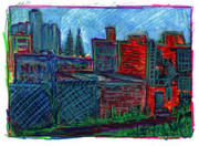 Don Thibodeaux Art - City View from Studio by Don Thibodeaux
