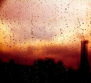 Rain Art - City Window by Bob Orsillo