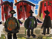Labor Drawings - City Workers Come Home by Mary Carol Williams