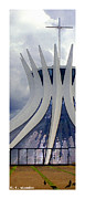 Church Prints - Citymarks Brasilia Print by Roberto Alamino