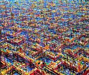 Birdseye View Metal Prints - Citypattern Metal Print by De Es Schwertberger