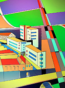 Roads Mixed Media - Cityscape 12 by Zbigniew Rusin
