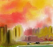 Cityscape Print by David Lane