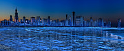 Lake Metal Prints - Cityscape Metal Print by Justin W. Kern