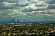 Los Angeles Skyline Digital Art Prints - Cityscape LA Print by Donald Cully