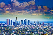 Y120817 Art - Cityscape  Of Los Angeles by Albert Valles