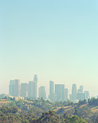 Elysian Prints - Cityscape Of Los Angeles Skyline From Elysian Park Print by Edwin Beckenbach