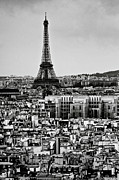 Black And White Paris Metal Prints - Cityscape Of Paris Metal Print by Sbk_20d Pictures