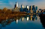 Cityscape Of Philadelphia Pa Print by Louis Dallara