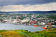 Panoramic Art - Cityscape of Saint Johns from Signal Hill by Elena Elisseeva