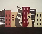 Sandy Bostelman Posters - Cityscape On the Horizon 2 Poster by Sandy Bostelman