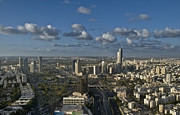 Tel Aviv Photos - Cityscape View of Tel Aviv by Noam Armonn