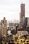 New York City Rooftop Photos - Cityscape With Construction by Eddy Joaquim