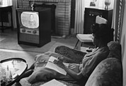 Tv Set Prints - Civil Rights, An African American High Print by Everett