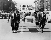 Jim Crow Era Prints - Civil Rights Demonstration In A Naacp Print by Everett