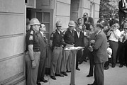Hard Hat Prints - Civil Rights, Governor George Wallace Print by Everett