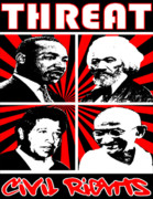 Martin Luther King Jr Digital Art Posters - Civil Rights Poster by Jesus Javier Huerta