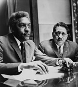 Activists Framed Prints - Civil Rights Leaders Bayard Rustin Framed Print by Everett