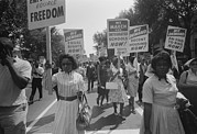 March Photos - Civil Rights March On Washington Dc by Everett
