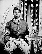 1860s Posters - Civil War: Black Soldier Poster by Granger