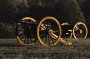 War Monuments And Shrines Prints - Civil War Cannon And Caisson, Manassas Print by Medford Taylor