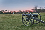Civil War Cannon Prints - Civil War Cannon at Sunrise - Manassas Battlefield - Virginia Print by Brendan Reals