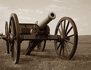 Confederate Photo Posters - Civil War Cannon Poster by Olivier Le Queinec
