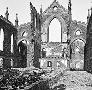 Cathedral Ruins Posters - Civil War: Charleston, 1865 Poster by Granger