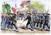 Regiment Prints - Civil War: Garibaldi Guard Print by Granger