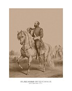 Garfield Framed Prints - Civil War General James Garfield Framed Print by War Is Hell Store