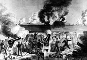 Bombed Posters - Civil War--illustration Of Fort Sumter Poster by Everett