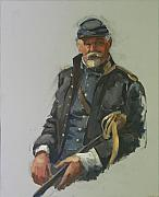 Civil Paintings - Civil War Officer by Mary McInnis