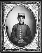 Confederacy Framed Prints - Civil War Soldier Framed Print by Photo Researchers