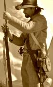 Reenactment Posters - Civil War Soldier Poster by Rose  Hill