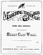 Marching Acrylic Prints - Civil War: Songsheet, 1865 Acrylic Print by Granger