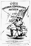 Confederate Flag Photo Posters - CIVIL WAR: SONGSHEET, c1861 Poster by Granger