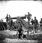 1860s Prints - Civil War: Union Artillery Print by Granger
