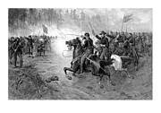 United States Mixed Media - Civil War Union Cavalry Charge by War Is Hell Store