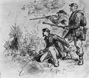 War Drawing Prints - Civil War: Union Infantry Print by Granger
