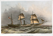 U.s Army Framed Prints - Civil War: Uss Kearsarge Framed Print by Granger